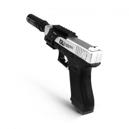 Ren Xiang Glock 18 Handgun Pistol (Manual) Gel Blaster (Silver)