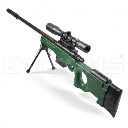 102cm AWM Sniper Gel Blaster Kid's Toy - Manual (Green)
