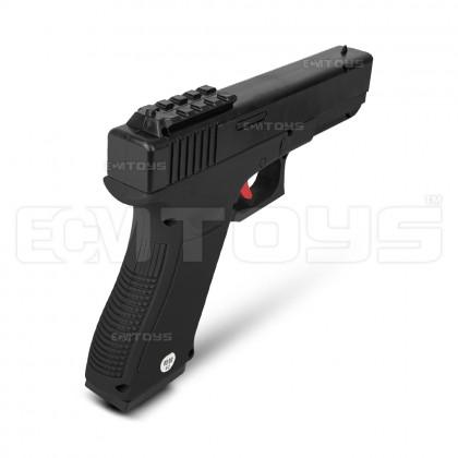 20cm Glock 18 Gel Blaster Kid's Toy - Manual (Black)
