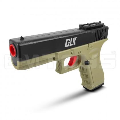 20cm Glock 18 Gel Blaster Kid's Toy - Manual (Sand)